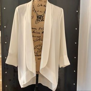 LUSH Cream Oversized Blazer